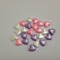 PINK,LILAC & WHITE SHIMMER HEART PACK