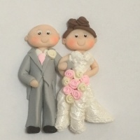 Bride & Groom (Joined - Lace effect)