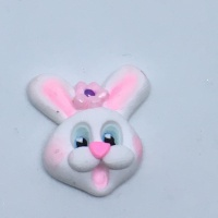 Easter Bunny Head -  Pink Flower