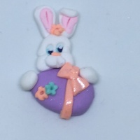 Easter Bunny and egg - purple