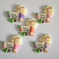 ''Blossom'' Fairy with ''Fairies Welcome Sign Post
